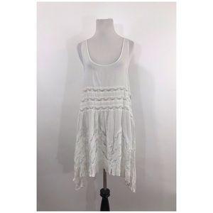 Free People Voile Trapeze Lace Tea Slip Dress M